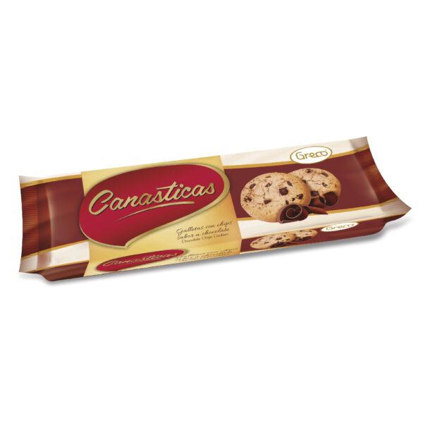 Canasticas Chips sabor a Chocolate 105gr