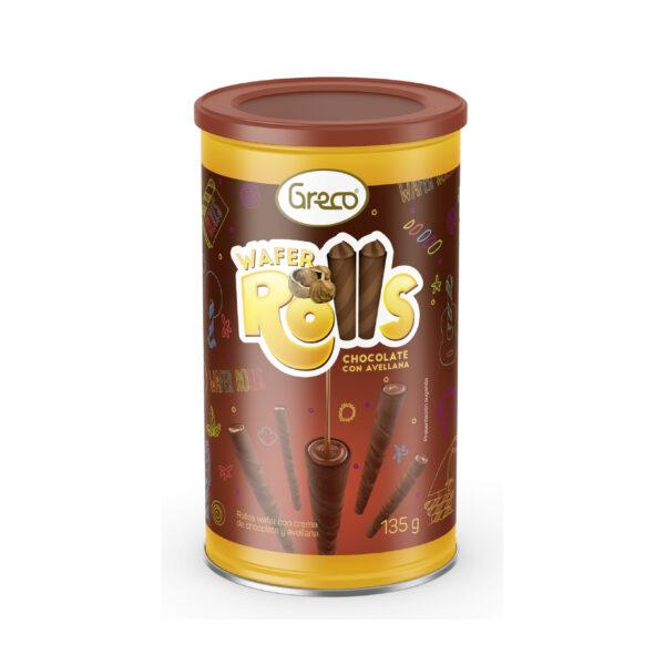 Wafer Rolls Chocolate y Avellana 135gr